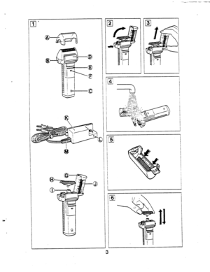 Panasonic Shaver Wet Dry Es 867 Operating Instructions