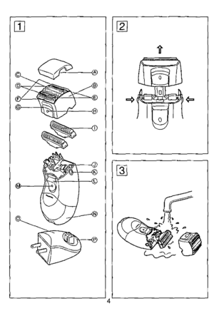 Panasonic Ladies Shaver Es 2209 Operating Instructions