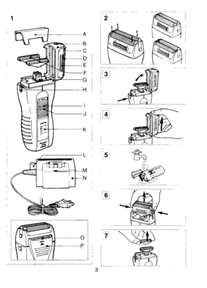 Panasonic Shaver Wet Dry Es 702 Operating Instructions