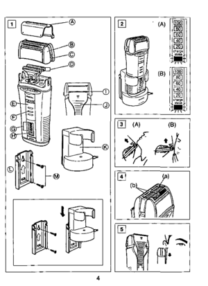 Panasonic Shaver Wet Dry Es 8003 Operating Instructions