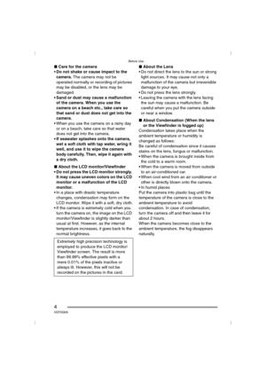 Panasonic Dmc Fz5 Operating Instructions Manual