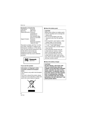 Panasonic Dmc Fx33 Operating Instructions Manual