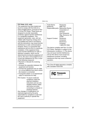 Panasonic DmcFx7 Operating Instructions Manual