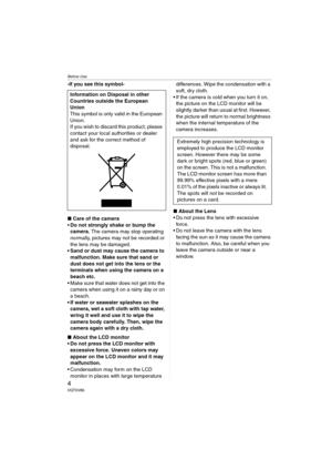 Panasonic Dmc Fx01 Operating Instructions Manual