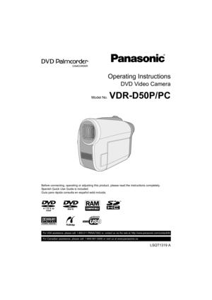 Panasonic Vdr D50 Operating Instructions Manual