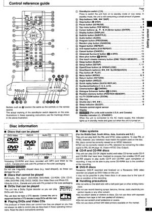 Panasonic Dvd Rv32 Operating Instructions Manual