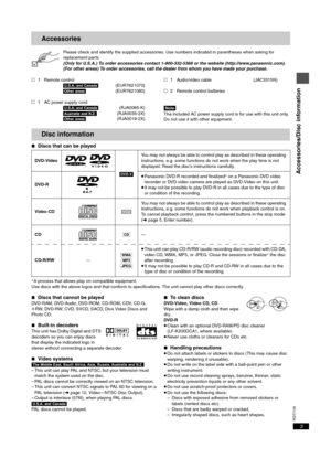 Panasonic Dvd S25 Operating Instructions Manual
