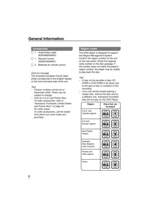 Panasonic Dvd S38 Operating Instructions Manual