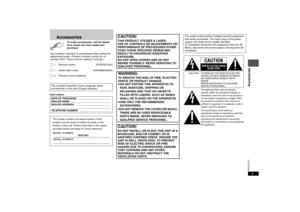 Panasonic Dvd S43 Operating Instructions Manual