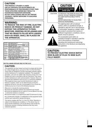 Panasonic Dvd S55 Operating Instructions Manual
