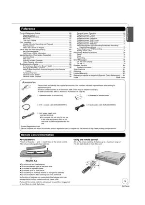 Panasonic Dmr Ez37 Operating Instructions Manual