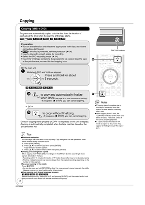 Panasonic Dmr Ez37 Operating Instructions Manual
