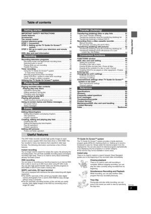 Panasonic Dmr T6070 Operating Instructions Manual