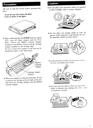 Panasonic Electronic Typewriter Kx R320 Operating Instructions