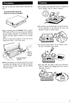 Panasonic Electronic Typewriter Kx R335 Operating Instructions
