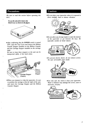 Panasonic Electronic Typewriter Kx R340 Operating Instructions