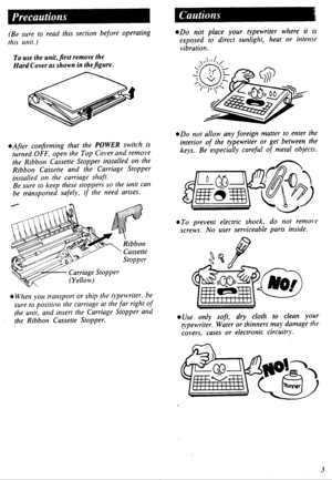 Panasonic Electronic Typewriter Kx R435 Operating Instructions