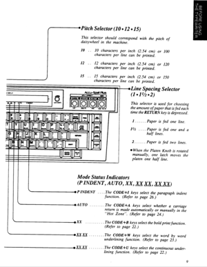 Panasonic Electronic Typewriter Kx R440 Operating Instructions