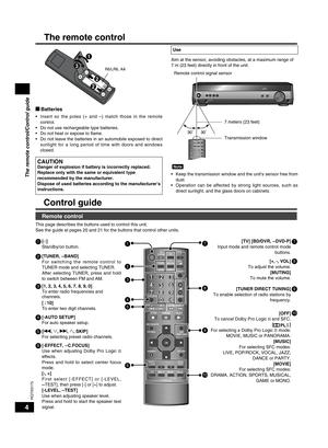 Panasonic Home Theater Audio System Sc Ht56 Operating