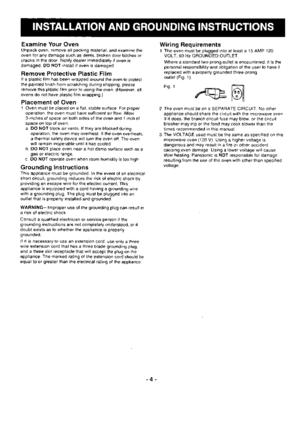 Panasonic Microwave Ovens Ne 1024_ne 1054 Operating