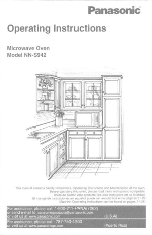 Panasonic Microwave Oven Nn S942 Operating Instructions
