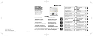 Panasonic Cz Rtc2 Instructions Manual