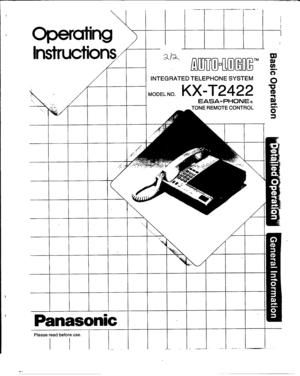 Panasonic Kx T2422 Operating Instructions Manual