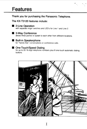 Panasonic Kx T3120 Operating Instructions Manual