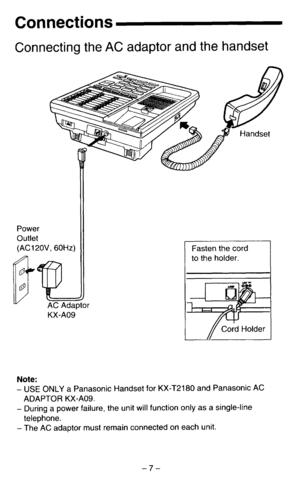 Panasonic Kx T2180 Operating Instructions Manual