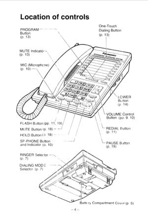 Panasonic Kx T2250 Operating Instructions Manual