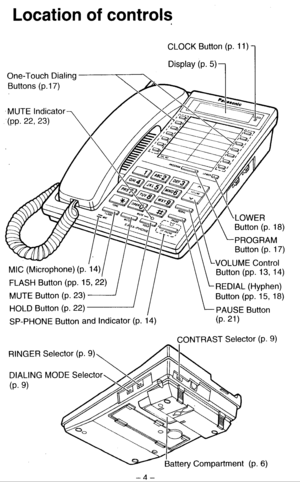 Panasonic Kx T2261 Operating Instructions Manual