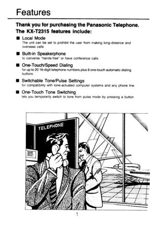 Panasonic Kx T2315 Operating Instructions Manual