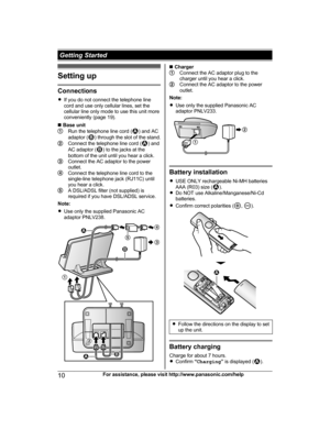 Panasonic Kx Prl262 Operating Instructions Manual