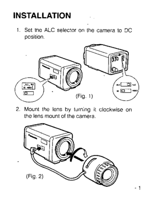 Panasonic Wv Lz622 Operating Instructions Manual