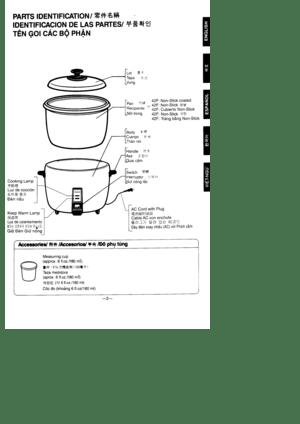 Panasonic Rice Cooker Sr 42hp Operating Instructions