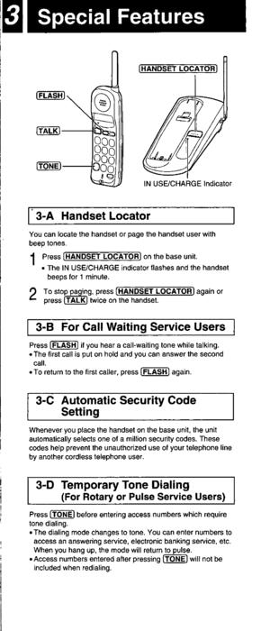 Panasonic Kx Tc1430 Operating Instructions Manual