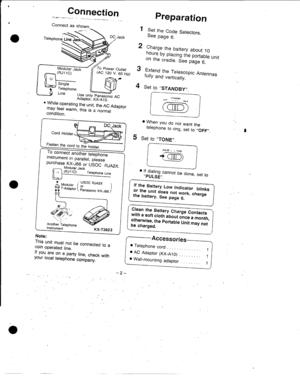 Panasonic Kx T3823 Operating Instructions Manual
