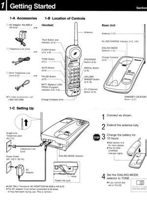 Panasonic Kx T3908 Operating Instructions Manual