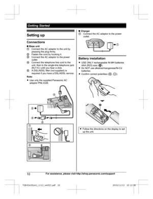 Panasonic Kx Tge432 Operating Instructions Manual