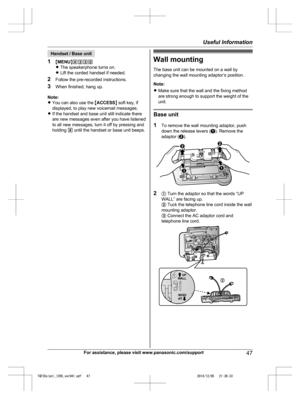 Panasonic Kx Tgf350 Operating Instructions Manual