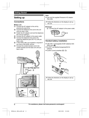 Panasonic Kx Tgf350 Operating Instructions Manual