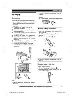 Panasonic Kx Tgf380 Operating Instructions Manual