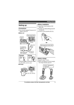Panasonic Kx Tg6411 Operating Instructions Manual