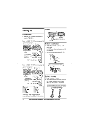 Panasonic Kx Tg4011 Operating Instructions Manual