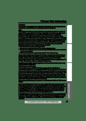 Panasonic Kx Tg5240 Operating Instructions Manual