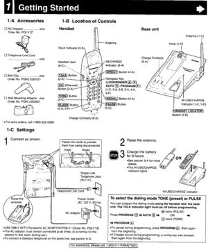 Panasonic Kx Tg2401 Operating Instructions Manual