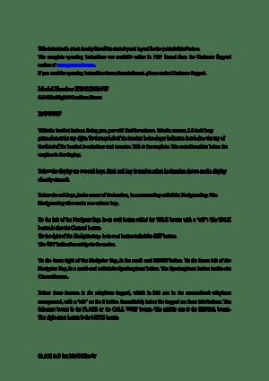 Panasonic Kx Tg2214 Text Sheet Manual