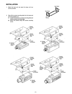 Panasonic Camera Housing Wv 7120d Operating Instructions