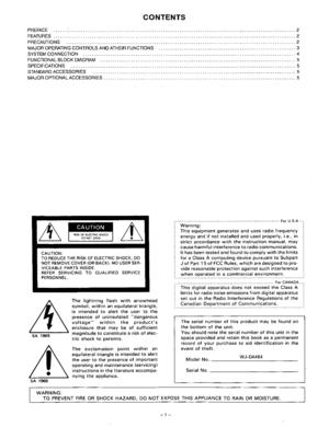 Panasonic Audio Mix And Selector Wj Da464 Operating