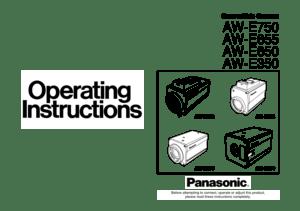 Panasonic Convertible Camera Aw E750 Operating Instructions